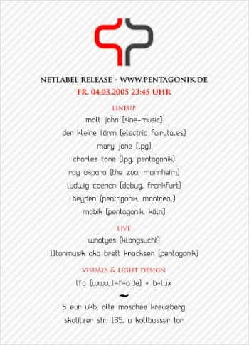 flyer pentaginik (netlabel) party :: by Donovan Ludwig