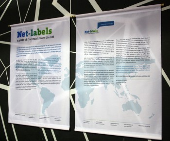 Posters explaining what netlabels are